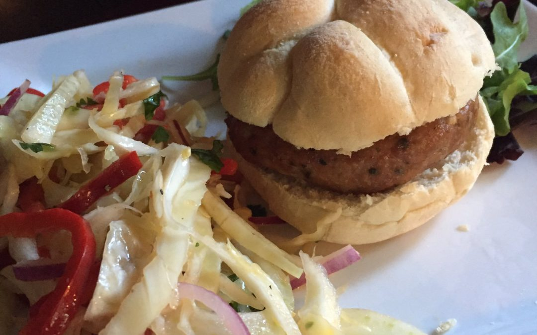 Asian Pork Burger with Crunchy Fennel Slaw