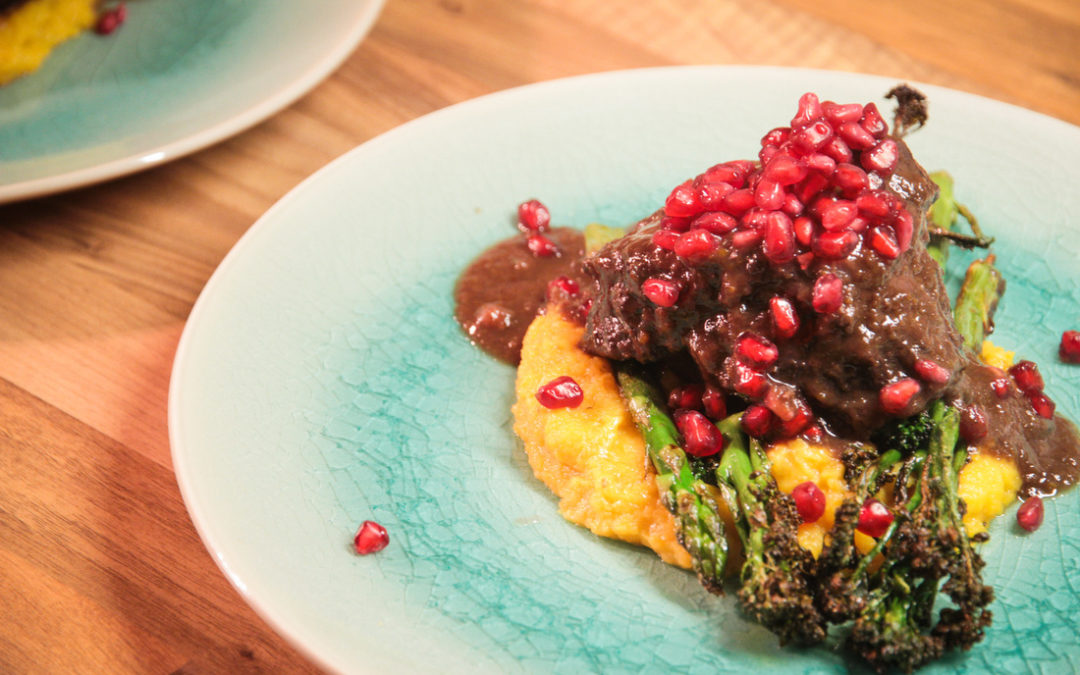 Slow Cooked Pomegranate Beef Cheeks