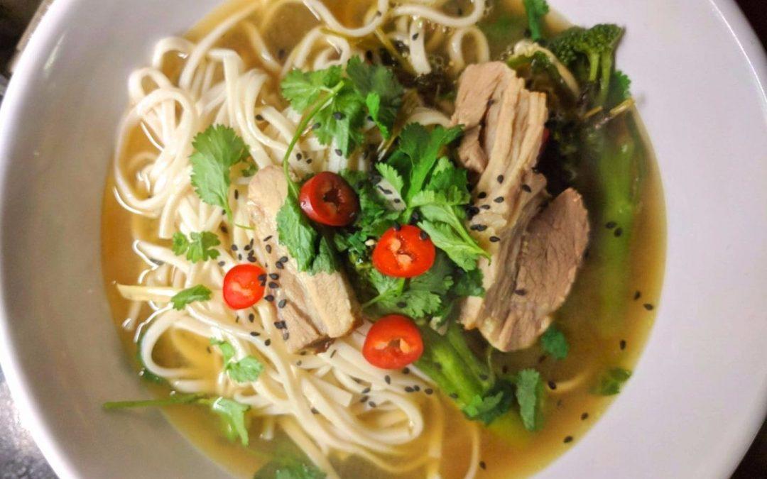 Chicken and Pork Ramen Noodles
