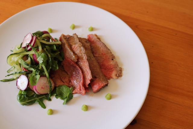 Beef, Wasabi and Yuzu Salad