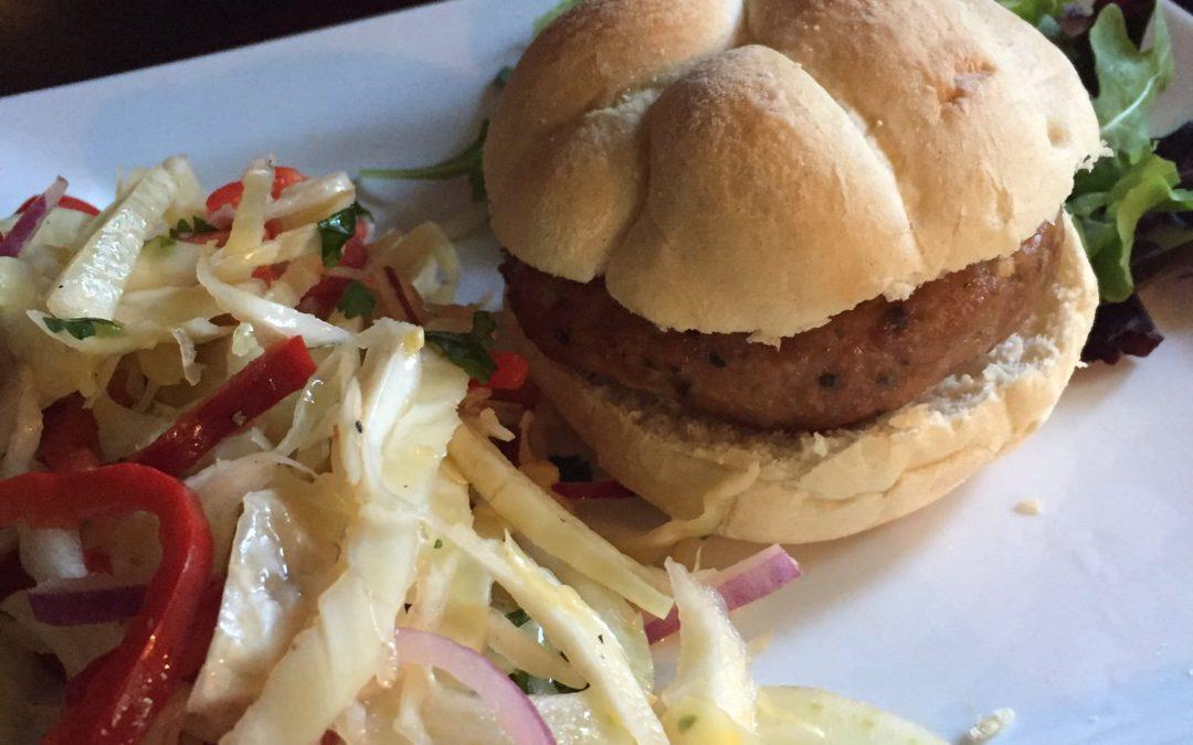 Asian Pork Burger with Crunchy Fennel Slaw